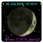 Current Moon Phase Widget with Hijri Date