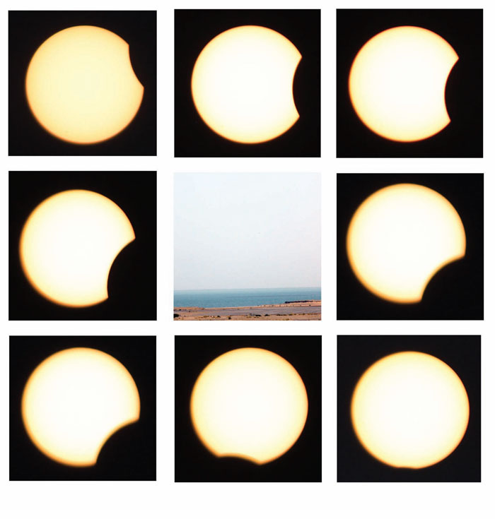 Partial annular solar eclipse, 1 September 2016 as seen in Jizan, Kingdom of Saudi Arabia Start: 10:32, Maximum: 11:35, End: 12:39. Photos by Dr. Fabrizio Pinto, Canon 500D and Thousand Oaks solar filter (no digital processing), Laboratory for QuantumVacuum Applications, Department of Physics, Faculty of Science, Jazan University. Prof. Ali Al-Kamli and Dr. Fabrizio Pinto, Co-Directors. © 2016. Fabrizio Pinto.