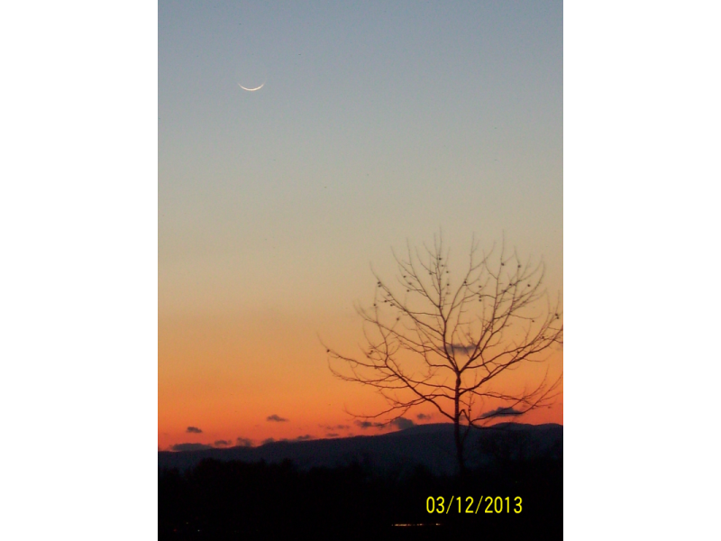Crescent for Jumadal Thani 1434 AH seen from USA.