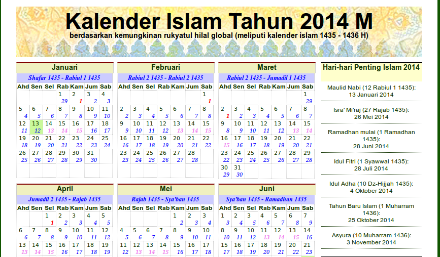 download islamic calendar 2014 in pdf alhabib 39 s blog. Black Bedroom Furniture Sets. Home Design Ideas