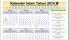 Tampilan Kalender Islam 2014 di Situs Alhabib