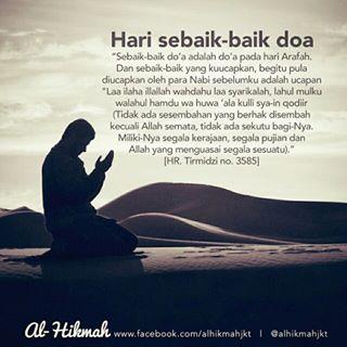 Inilah teks doa terbaik di hari Arafah, 9 Dzulhijjah.