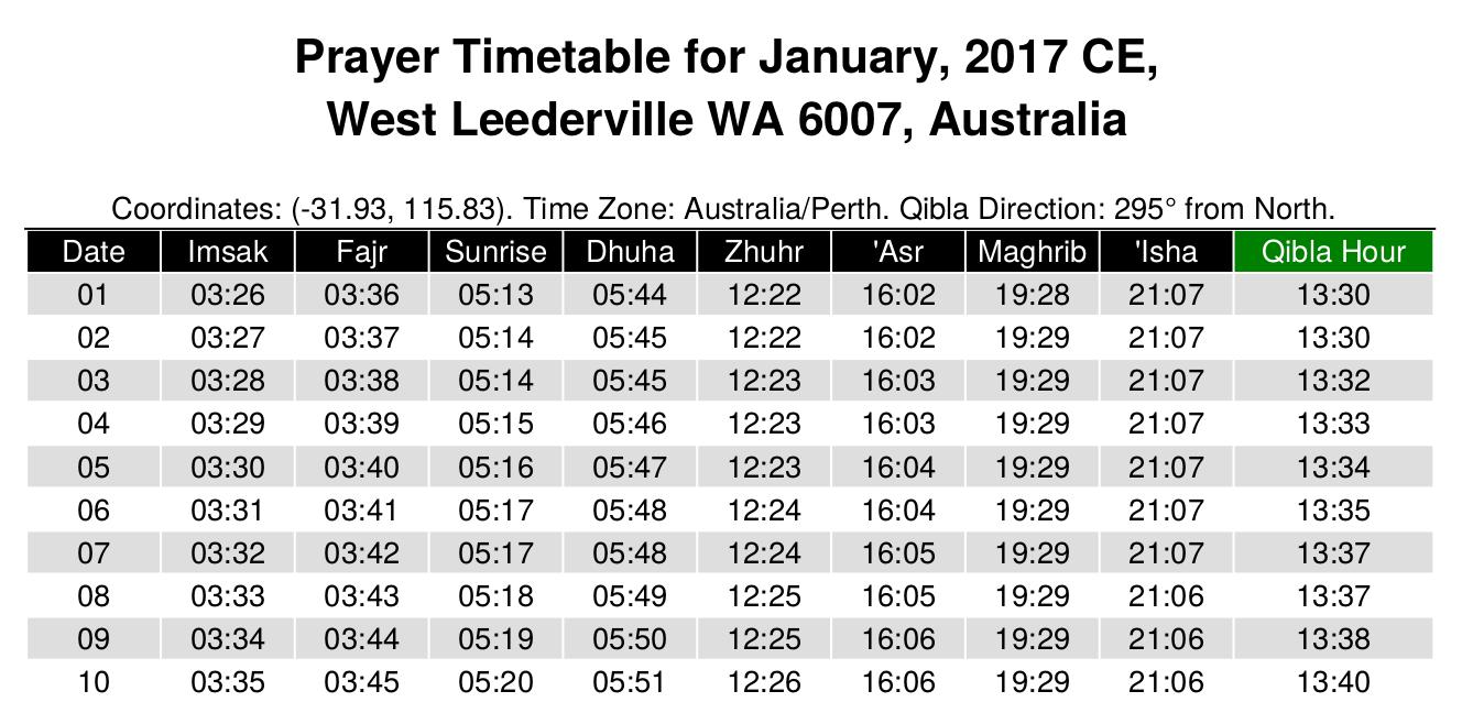 yearly prayer timetable generator available at alhabib alhabib s blog