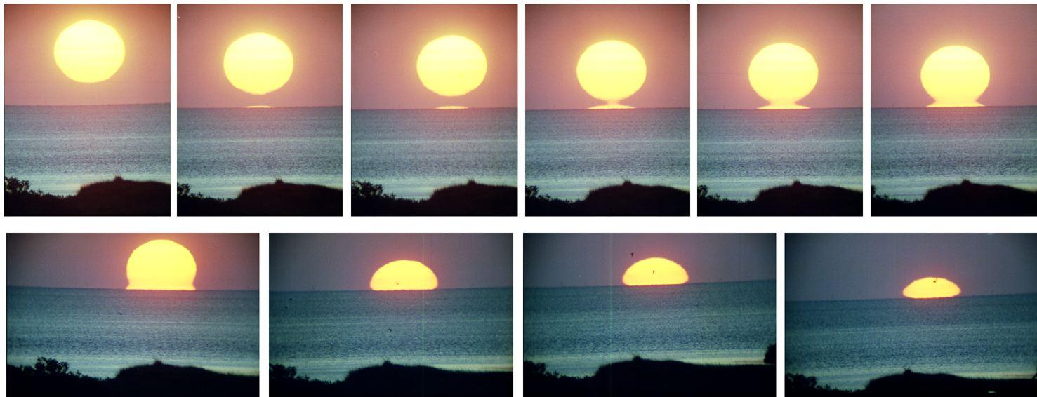 "Bukti matahari tenggelam, tidak terlihat bagian bawah terlebih dahulu. Matahari tidak menghilang seperti teori ""bumi datar"""