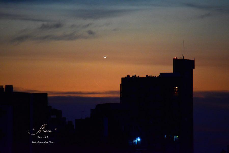 Dari Argentina, bulan sabit amat tipis berhasil difoto pada petang hari Jum'at, 16 Februari 2018 M.