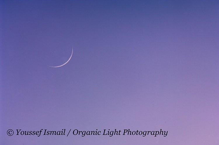 Foto bulan sabit (hilal) 1 Ramadhan 1439 H terlihat dari Amerika Serikat pada Rabu, 16 Mei 2018.