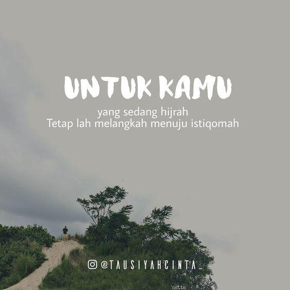 Kata Kata Mutiara Hijrah Istiqomah Cikimmcom