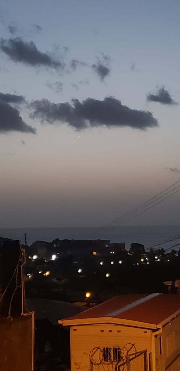 From Barbados, Carribean, the crescent moon of 1 Dhul-Qa'dah 1440 AH was visible on the evening of Wednesday, 3 July 2019.