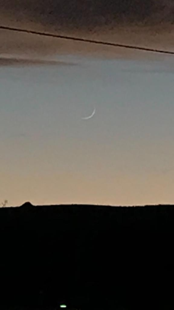 From Arizona, USA, the crescent moon of 1 Dhul-Qa'dah 1440 AH was visible on the evening of Wednesday, 3 July 2019.