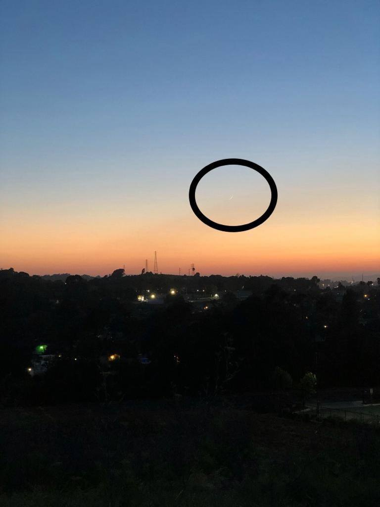 From California, USA, the crescent moon of 1 Dhul-Qa'dah 1440 AH was visible on the evening of Wednesday, 3 July 2019.