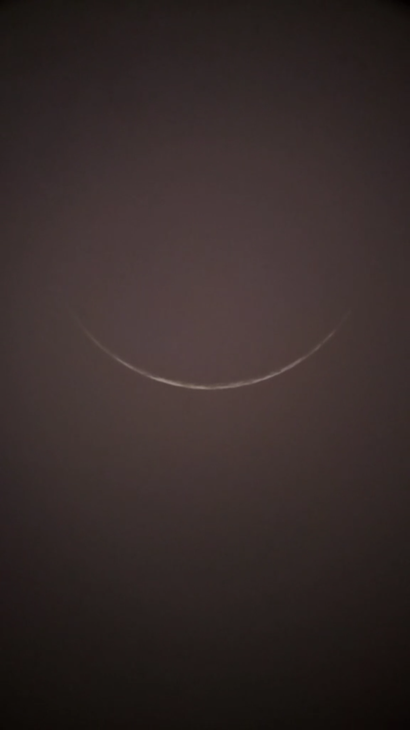 Photo of crescent moon of 1 Muharram 1441 AH from Cirebon, Indonesia visible on Saturday, 31 Agustus 2019 CE.