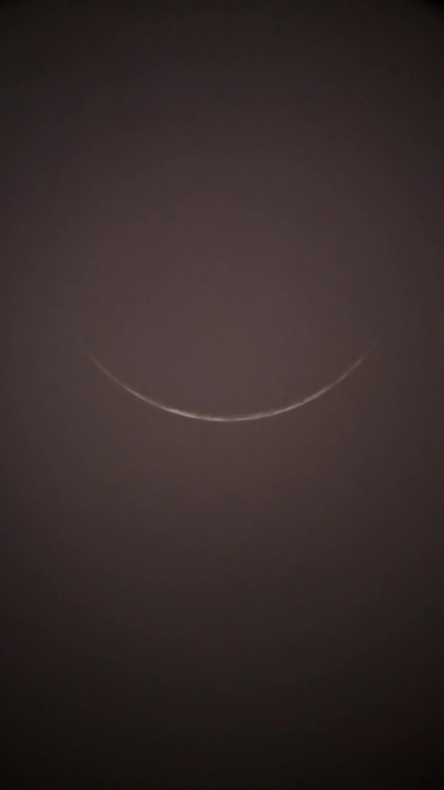 Fot hilal 1 Muharam 1441 H dari Cirebon, Indonesia, diambil pada Sabtu, 31 Agustus 2019 M.