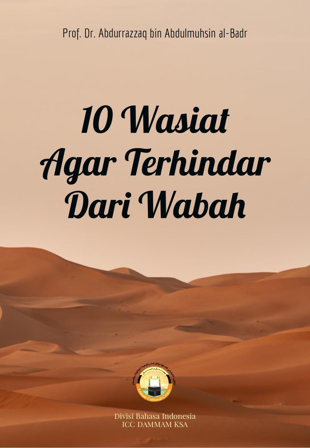 Sampul Buku 10 Wasiat Agar Terhindar Dari Wabah