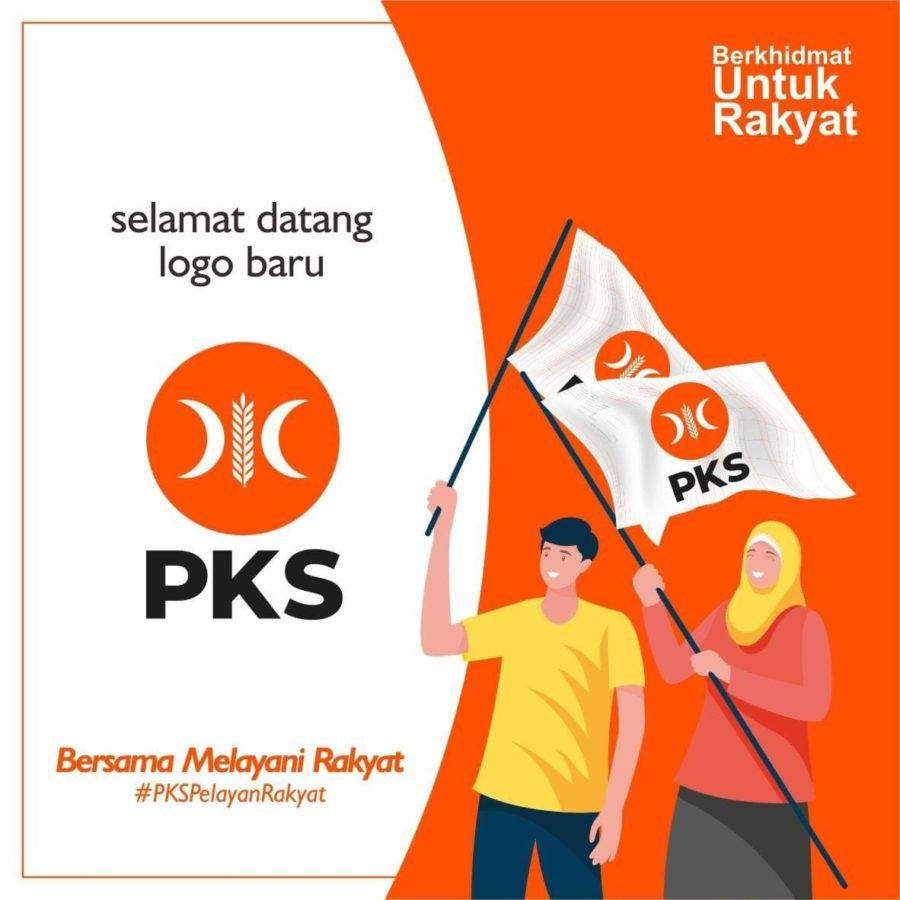 Selamat datang logo baru PKS. Bersama Melayani Rakyat