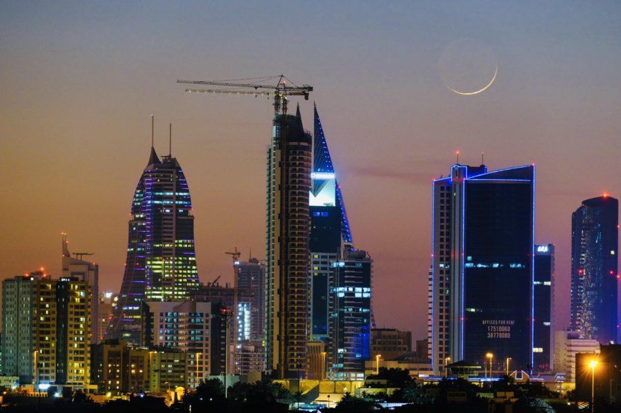 Foto hilal, bulan sabit, 1 Sya'ban 1442 H pada hari Ahad, 14 Maret 2021 dari Bahrain.