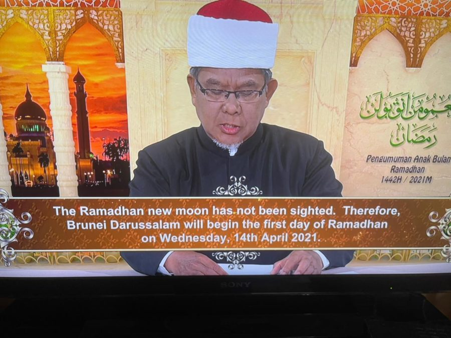 Brunei Darussalam declared negative sighting of the crescent moon on Monday evening, thus making 1 Ramadan 1442 to start on Wednesday, 14 April 2021.